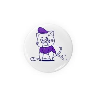 ヤンキー猫くん (紫) Badges