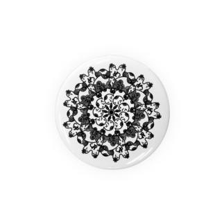 視線の四方八方曼荼羅 Badges