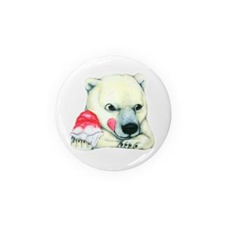 シロクマ×かき氷 Badges