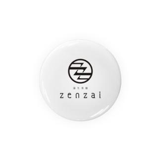 蒲生茶廊zenzaiロゴ Badges