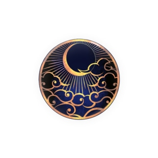 iN4の流離群青ロゴ缶バッジ Badges