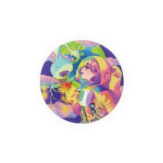 宇宙人と遭遇する女の子 Badges