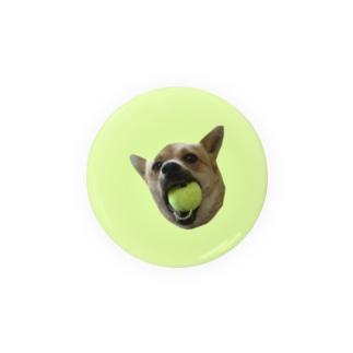 ボールくわえ犬 Badges