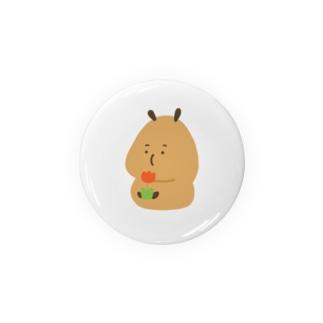 Capybara「Pokke」赤チューリップ Badges