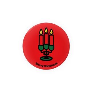 クリスマスオーナメント キャンドル(イルミネーション) Badges
