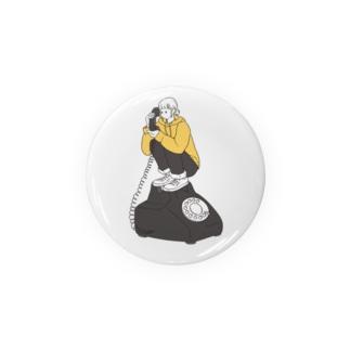 黒電話。 Badges