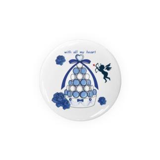 キューピッドの祝福/缶バッチ56mm Tin Badge