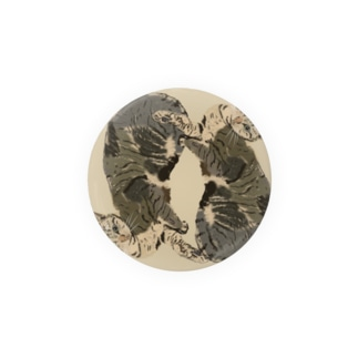 美人なネコ 羽根枠 Badges