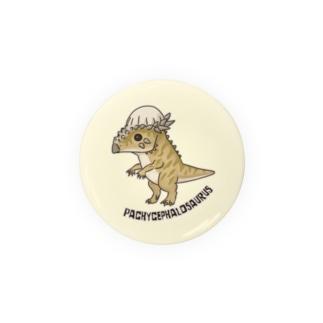 恐竜 パキケファロサウルス (背景カラー) タオルハンカチなど Badges