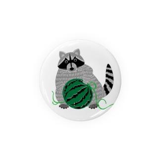 アライグマ(Procyon lotor) Badges