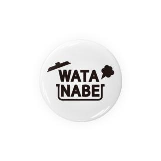 WATANABE vo.1 BLACK FONT Badges