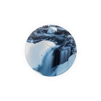 つばさ@フォトグラファーの氷流缶バッジ56mm.Ver1 Badges