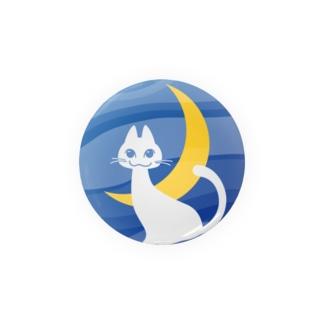 月夜の白ネコ Badges