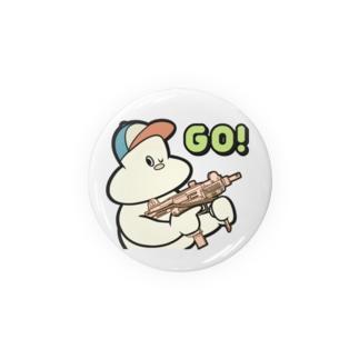 プラネットニッポンの80's風キャラクタープリント Badges