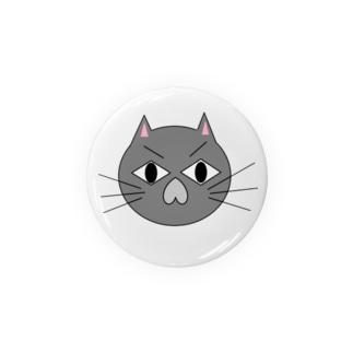こむ猫缶バッジ Badges