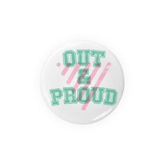 OUT & PROUD Badges