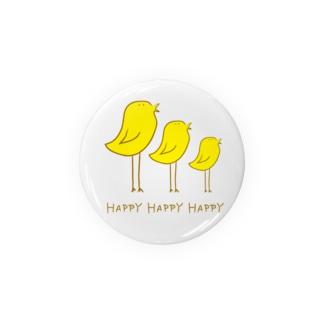 Happyな鳥 Badges