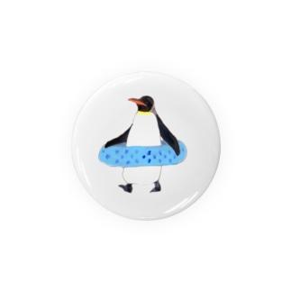 うきわペンギン Badges