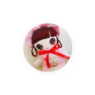 文化人形 いちご姫 Badges