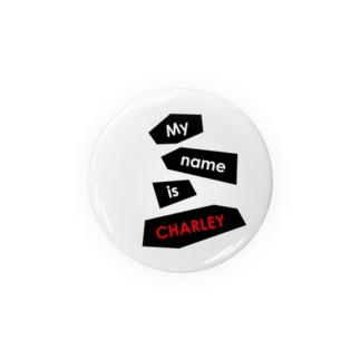ヘビのCHARLEY(ロゴ2) 缶バッジ