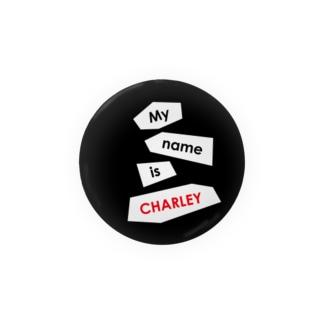 ヘビのCHARLEY(ロゴ1) 缶バッジ