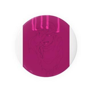ハシのべったりインク紫ピンク Badges