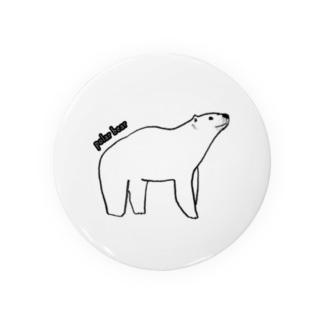 シンプルなシロクマ Badges