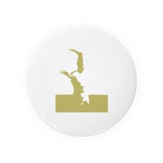 歪な石膏シリーズ・黄土色 Badges