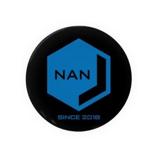 NANJCOIN公式ロゴ入り(黒背景) 缶バッジ