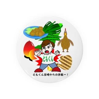 ともくん宮崎からの手紙―!ひむかの県産品とコラボ編(にちよう雑貨)  缶バッジ