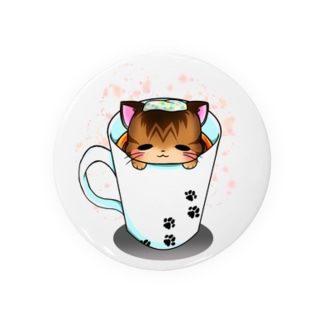 マグ湯浴み猫 Badges