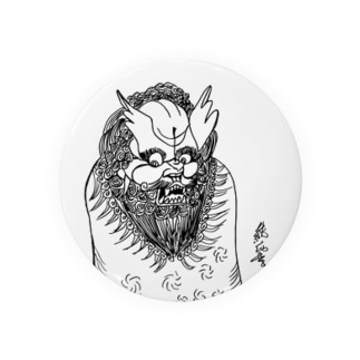 JUNSEN(純仙)唐獅子 平成の夜風を浴びて 単色 Badges