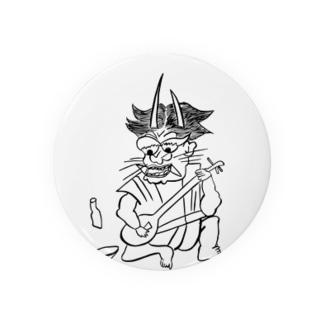 JUNSEN(純仙)浮世絵風 鬼の三味線弾き Badges