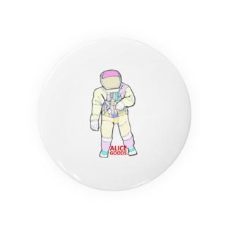 宇宙飛行士03 缶バッジ