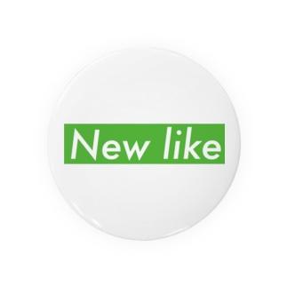 NEW LIKE ボックスロゴ[オマジュオマジュ] Badges