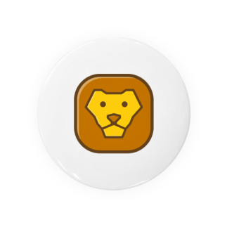 willnetのSavanna lion face 缶バッジ