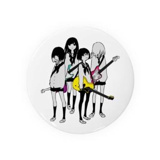 ギター&ベース女子高生 缶バッジ