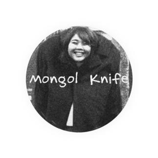 小顔のモンゴルナイフ 缶バッジ