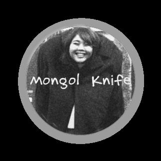 nuwtonの小顔のモンゴルナイフ缶バッジ