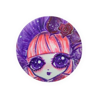 Gothic lolita Rose~Pink&Purple~ Badges