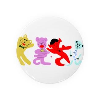 くまさん「熊文字」 Badges