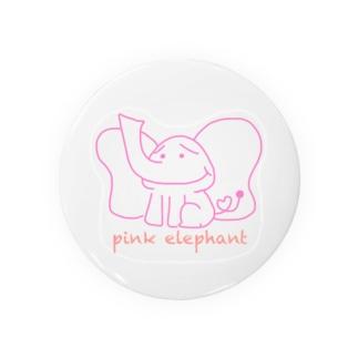 pink elephant Badges
