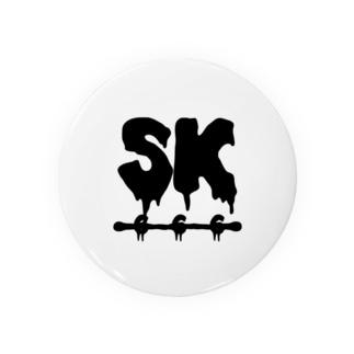 SK Strikethrough(666) Clothing - First Line White Badges