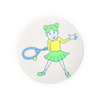 庭球ピコちゃんカラー Badges