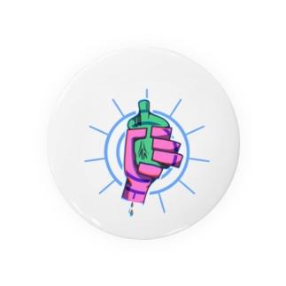 心臓と手 缶バッジ