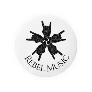 rebel music  缶バッジ