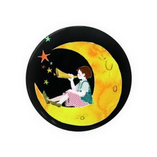 月の子ども Badges