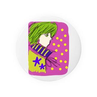 カロロファッション画横顔 Badges