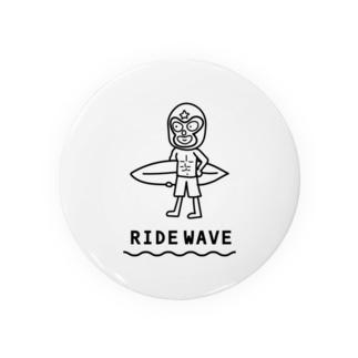 波乗りレスラー(モノクロ) Badges