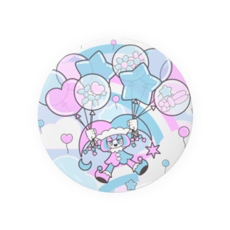 NAOTOONS SHOP SUZURI支店のFloating on a Balloon Badges